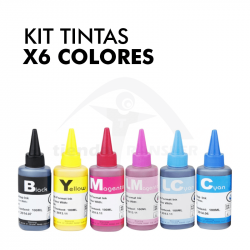 Kit Tintas Sublimación x 6...