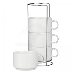 Mug Apilable x4 (5oz)