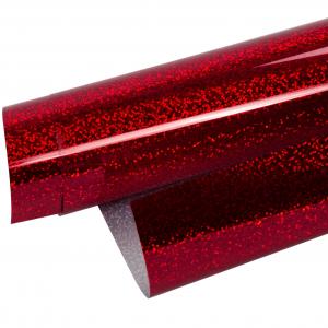 Vinilo Textil Holografico Rojo