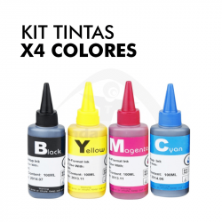 Kit Tintas Sublimación x4...