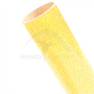 Vinilo Textil Amarillo Glitter