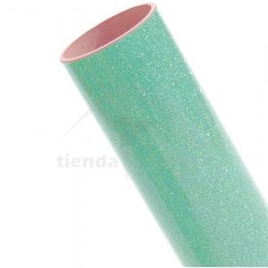 Vinilo Textil Menta Glitter