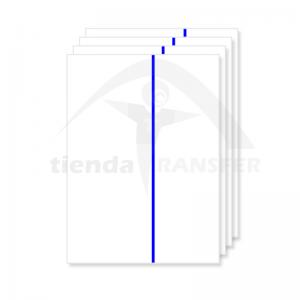 Papel Transfer Linea Azul...